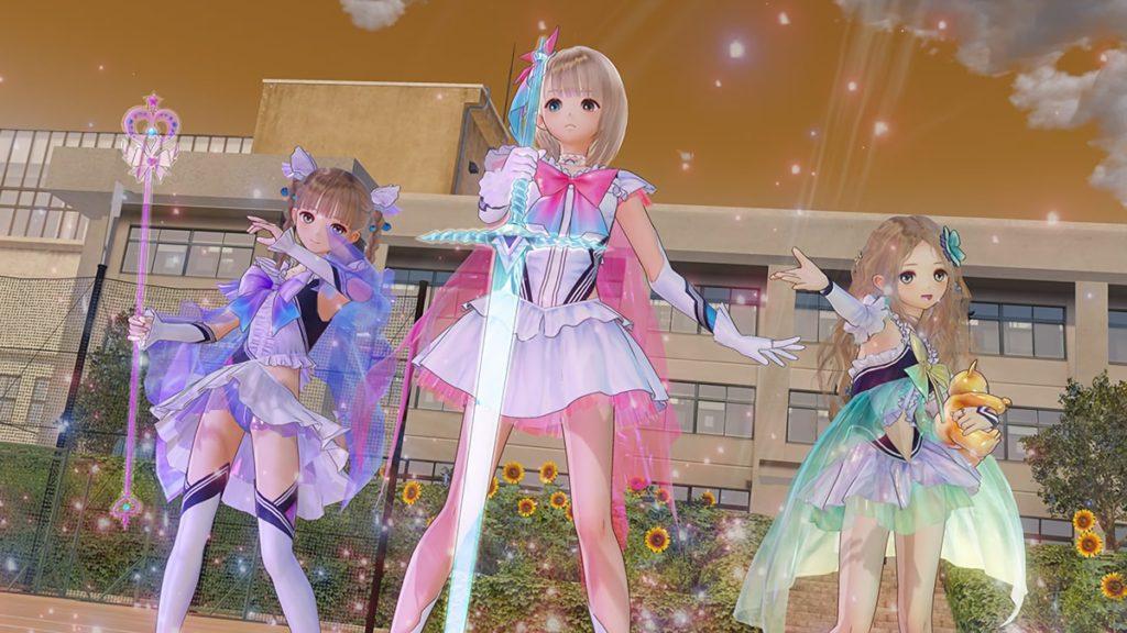 魔法少女3人がポーズをとっている