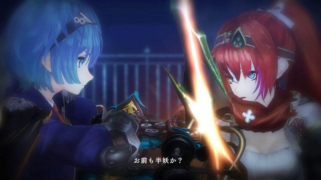 赤髪の少女と青髪の少女との戦い