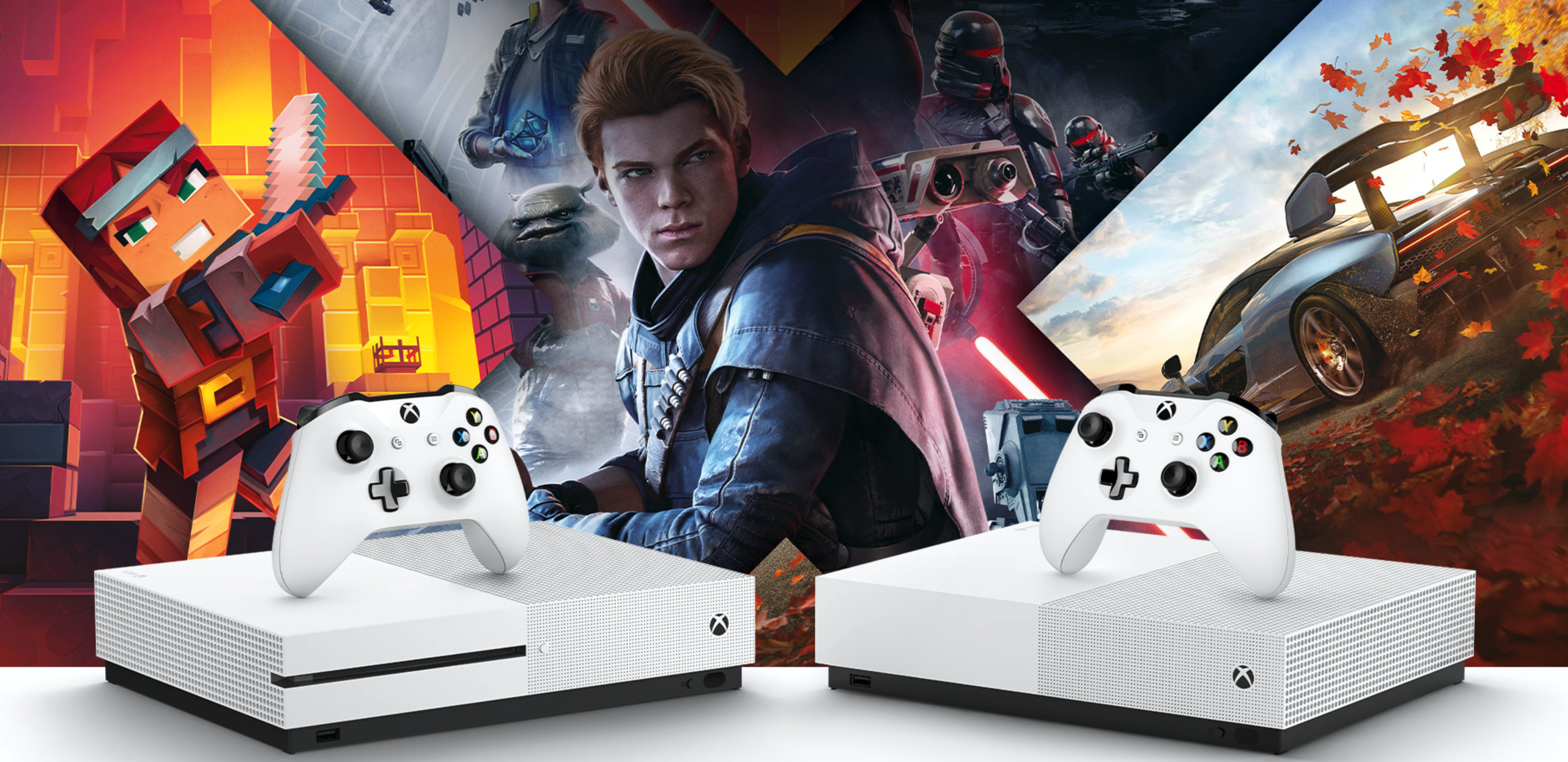 Xbox OneSとXbox One S All Digital Editionと5つのゲームソフト