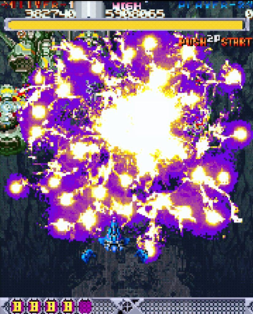 怒首領蜂のゲーム画面