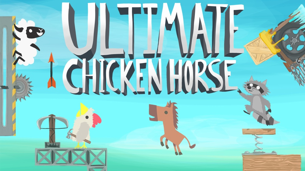 Ultimate Chicken Horseのタイトル画面
