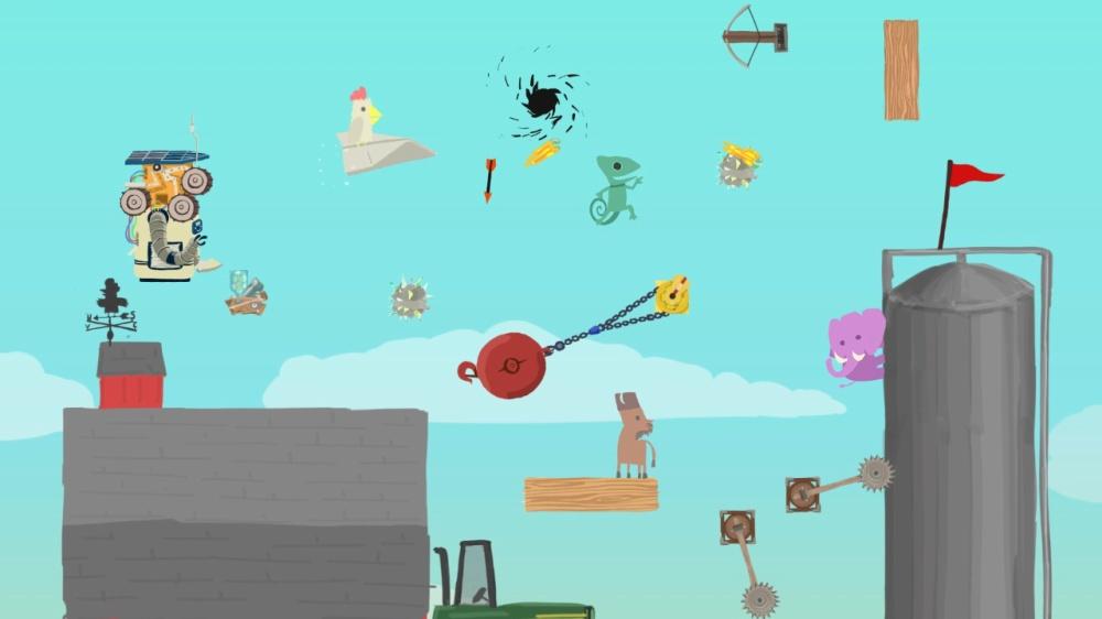 Ultimate Chicken Horseのゲーム画面