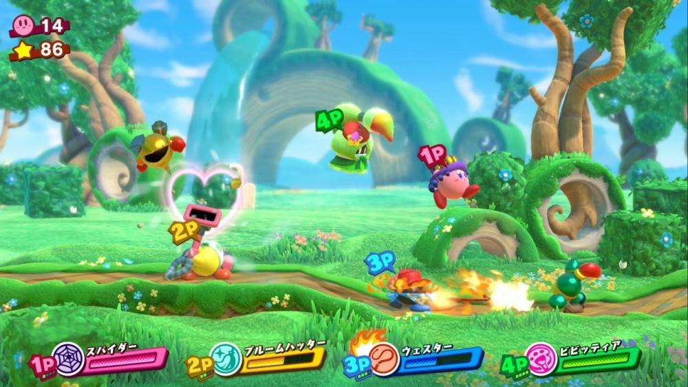 星のカービィ スターアライズのゲーム画面