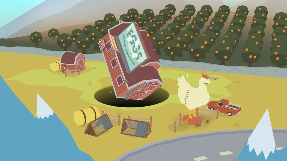 ドーナツ カウンティのゲーム画面