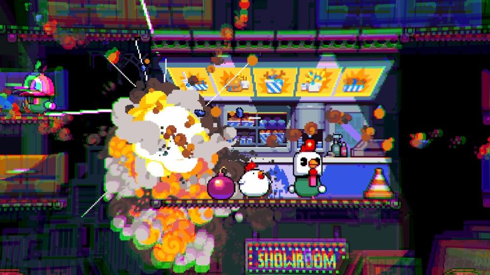 bomb chickenのゲーム画面
