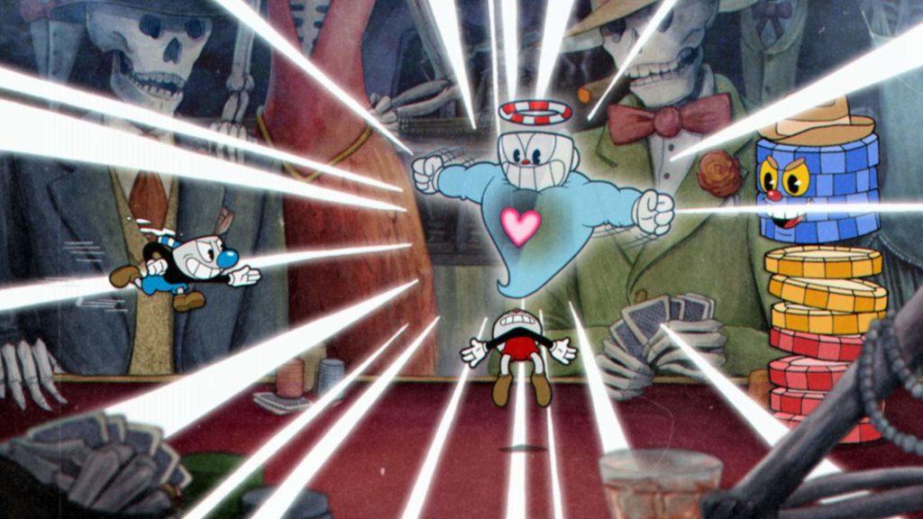 Cupheadのゲーム画面