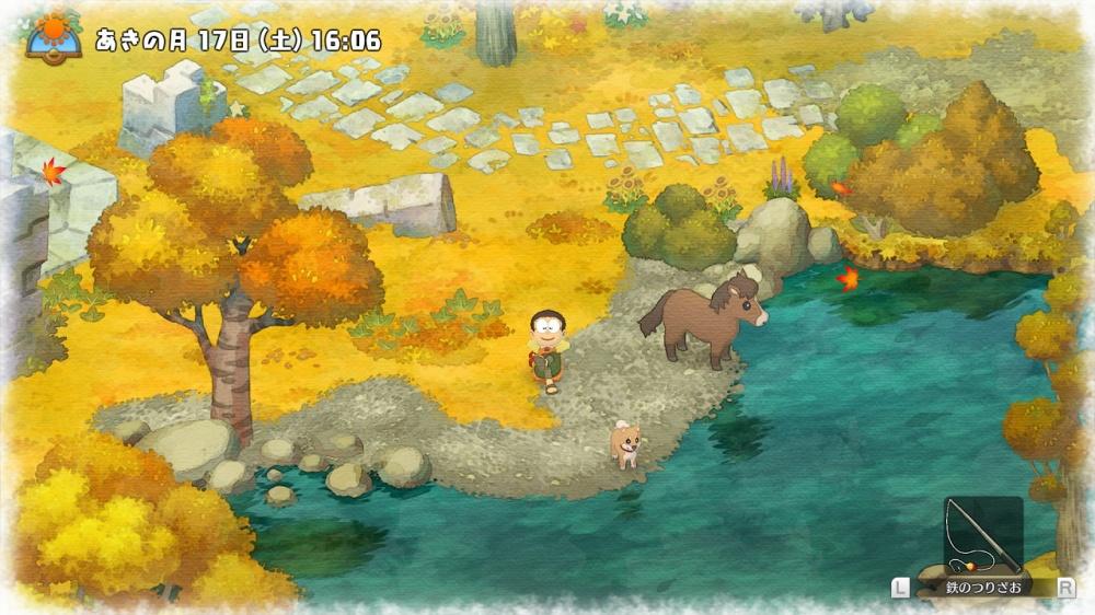 ドラえもん のび太の牧場物語のゲーム画面