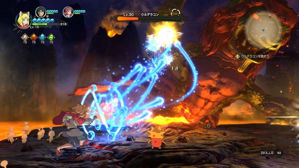 綺麗なアニメーションによる戦闘画面