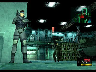 メタルギアソリッドのゲーム画面