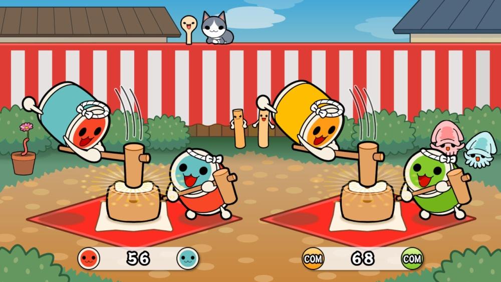 太鼓の達人のゲーム画面