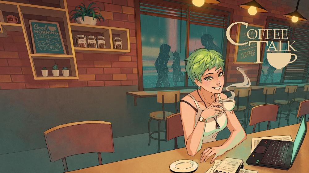 コーヒートークのタイトル画面