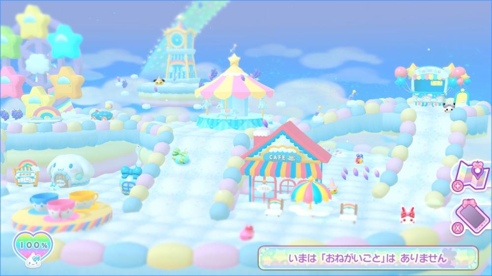 ぷるきゃらフレンズ ほっぺちゃんとサンリオキャラクターズのゲーム画面