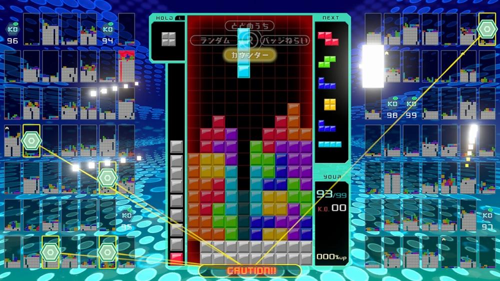 TETRIS 99で対戦をしている画面
