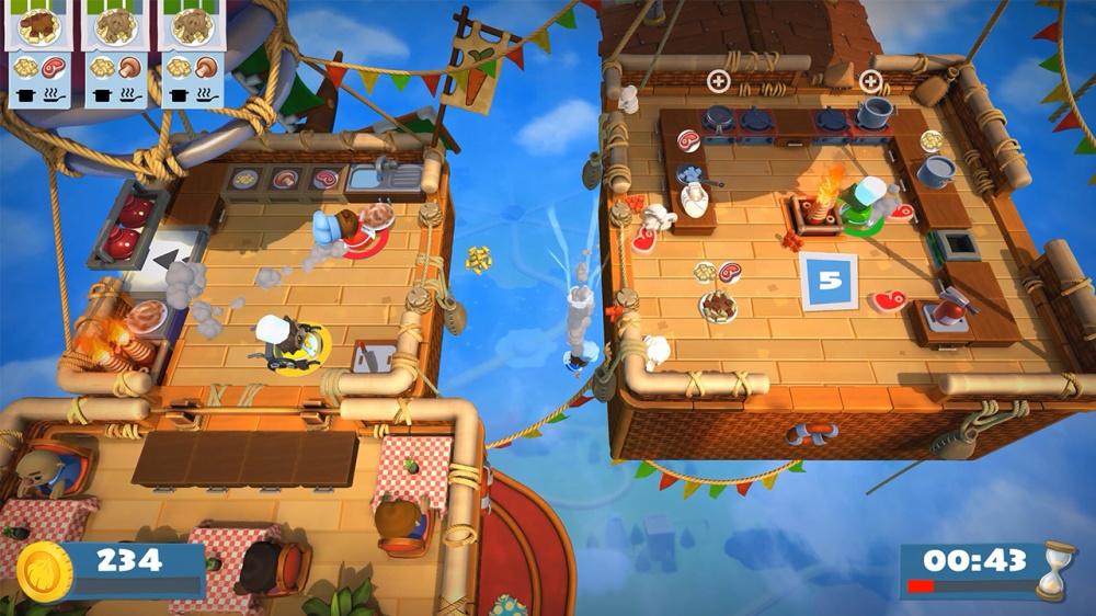 オーバークック2のゲーム画面