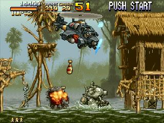 メタルスラッグのゲーム画面