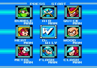 ロックマン2のゲーム画面