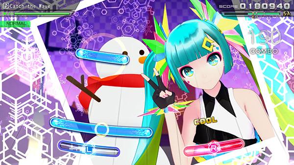 初音ミク Project DIVA MEGA39'sのゲーム画面