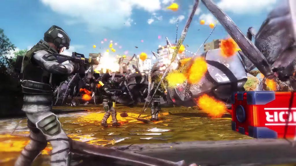 地球防衛軍5のゲーム画面