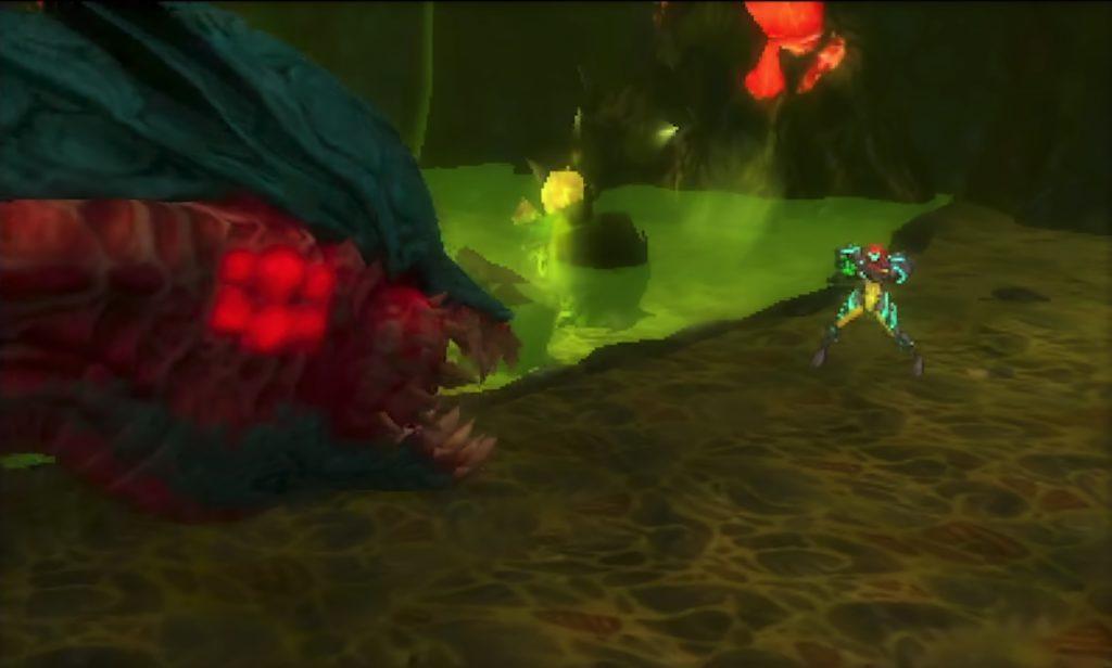 メトロイド サムスリターンズのゲーム画面