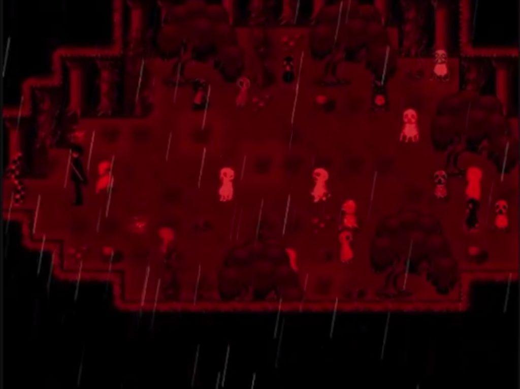 霧雨が降る森のゲーム画面