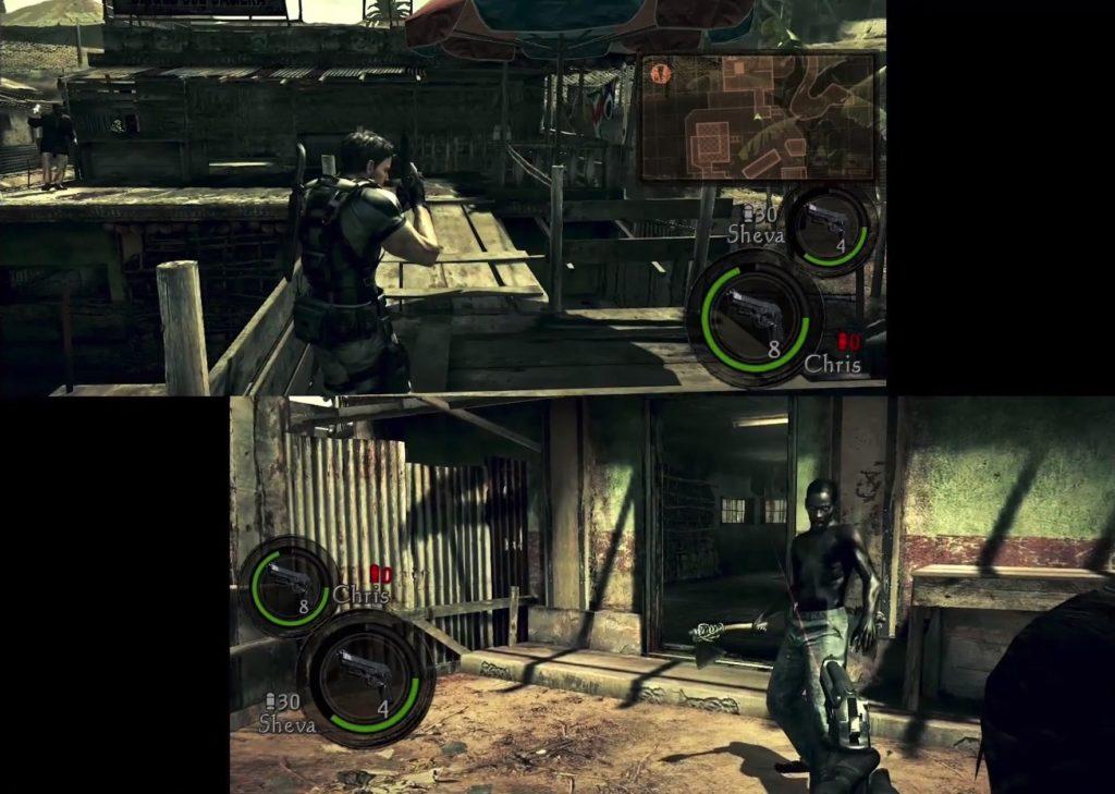 バイオハザード5のゲーム画面