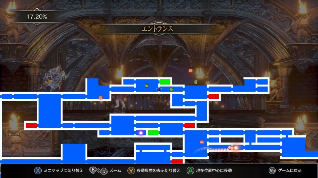 Bloodstainedのゲーム画面
