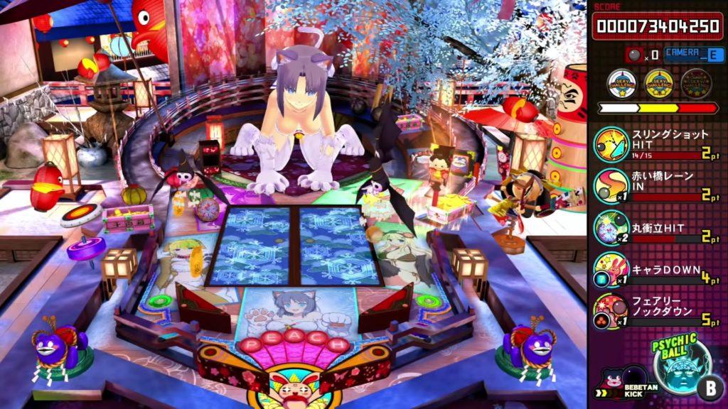 PEACH BALL 閃乱カグラのゲーム画面