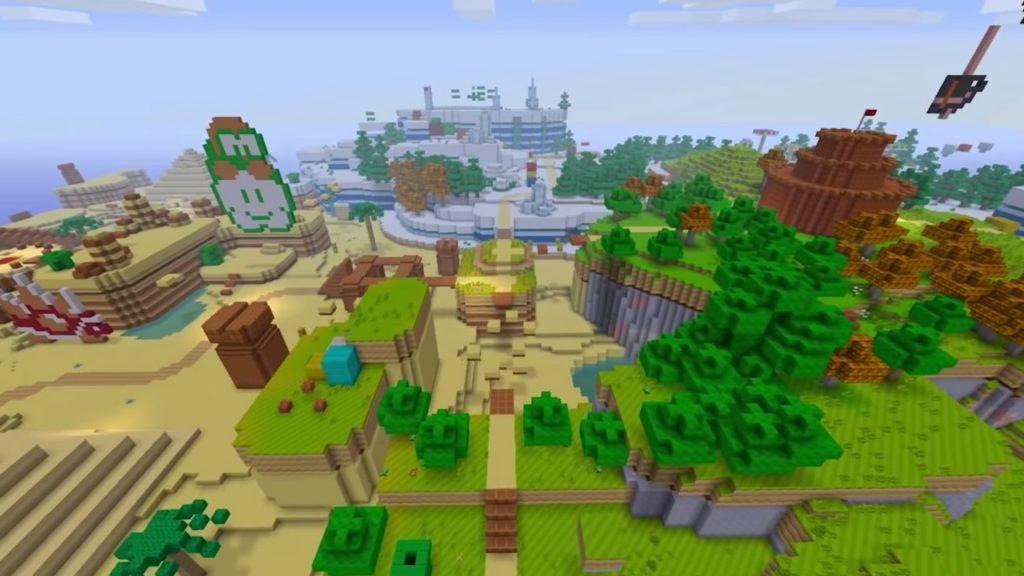 マインクラフトのゲーム画面
