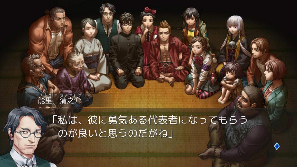 レイジングループのゲーム画面
