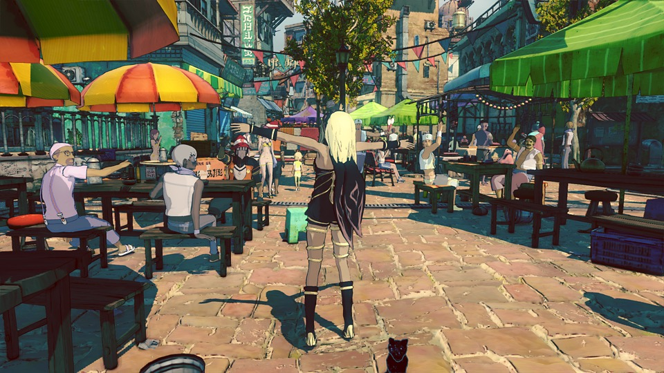 GRAVITY DAZE2のゲーム画面