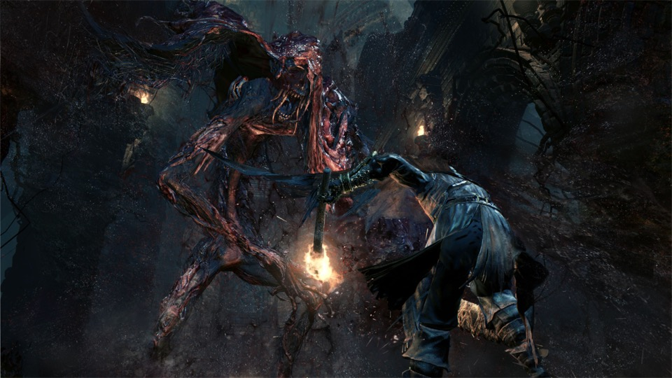 Bloodborneのゲーム画面