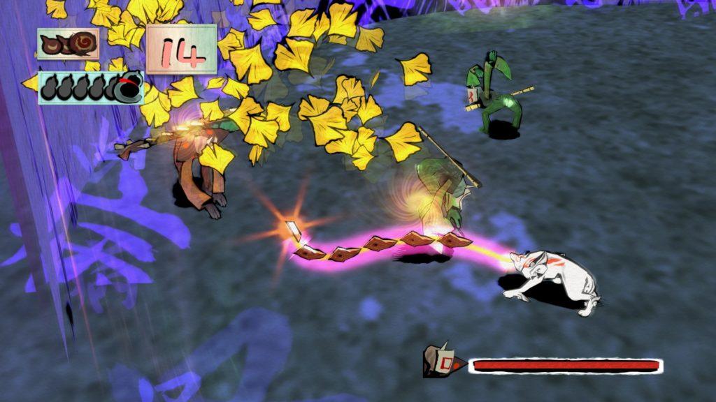 大神 絶景版のゲーム画面