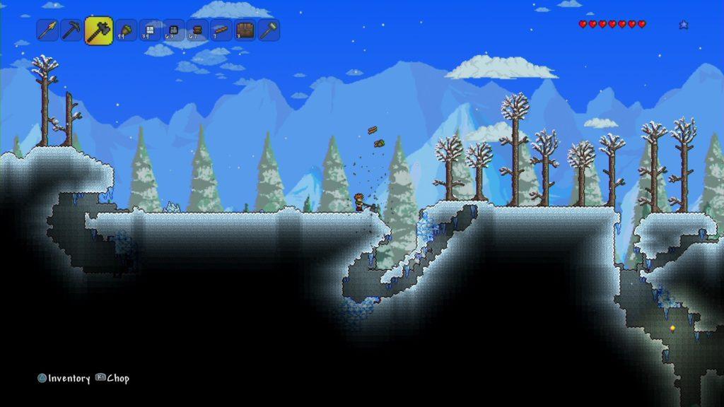 テラリアのゲーム画面