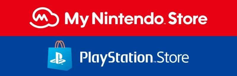 マイニンテンドーストアとプレイステーション ストアのロゴ