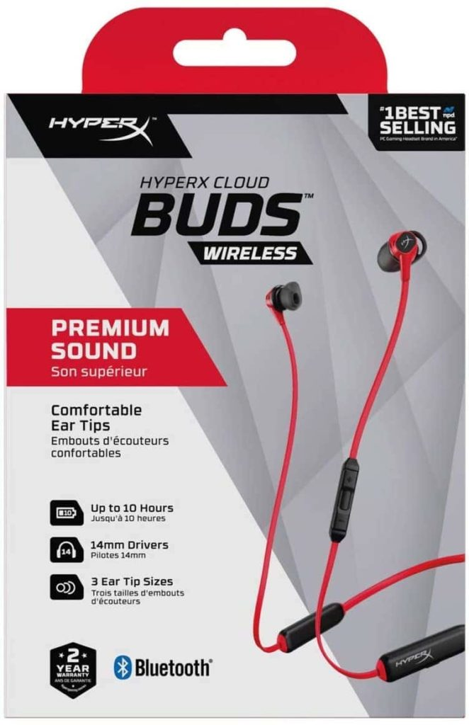 HyperX Cloud Earbuds HEBBXX-MC-RD/G