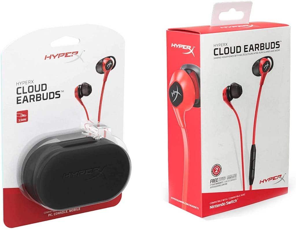 HyperX Cloud Earbuds HX-HSCEB-RD