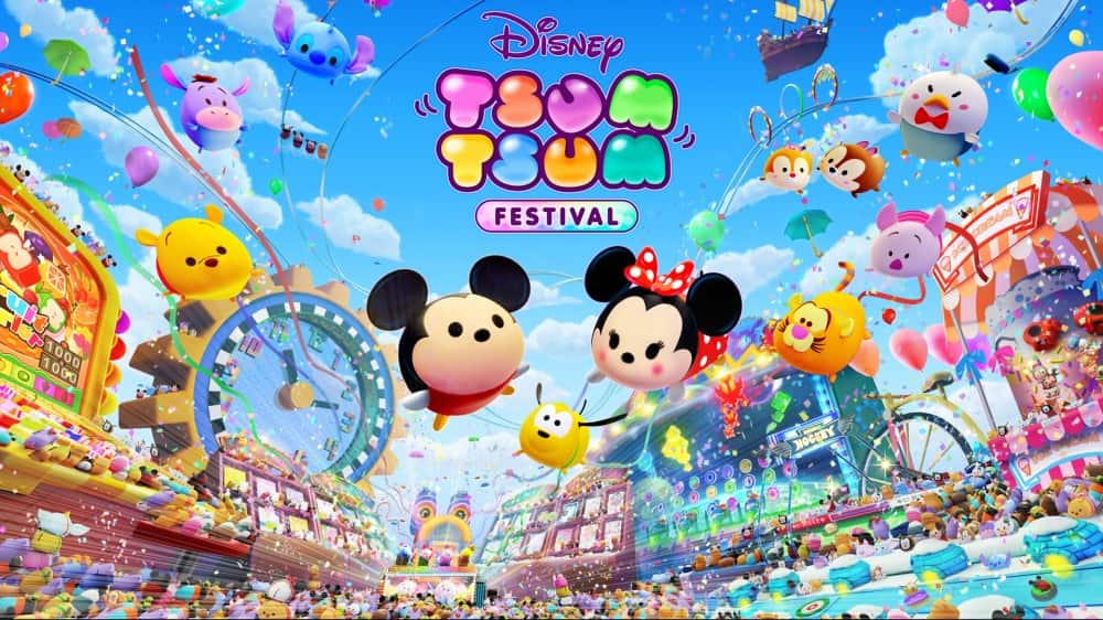 ディズニー ツムツム フェスティバルのタイトル画面