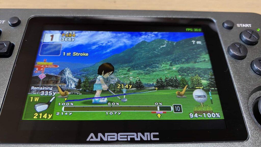 RG351Mでみんなのゴルフ ポータブルを起動