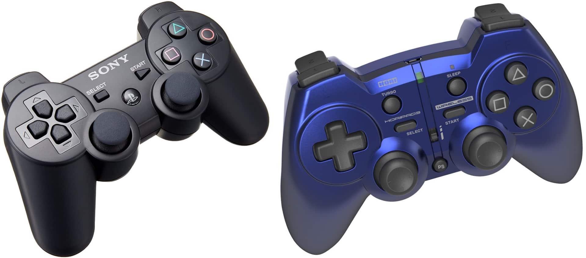 純正品のPS3コントローラーと非純正品のPS3コントローラー